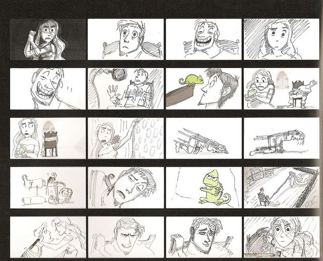 Tangled storyboards  - anime storyboard