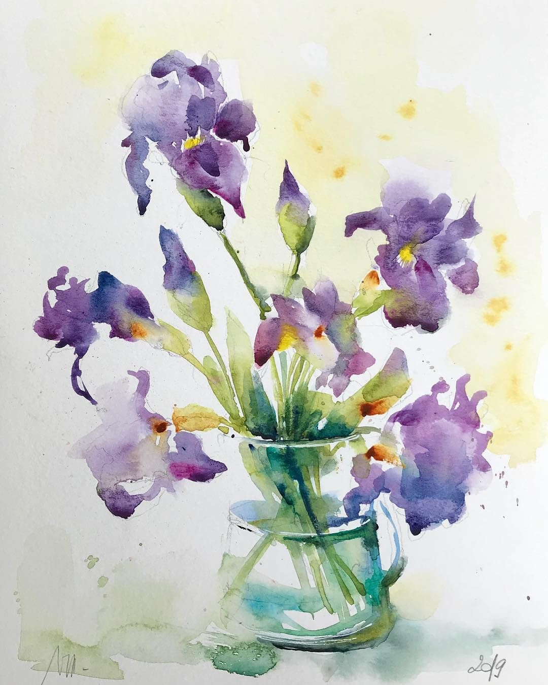 Valerie Mafrica On Instagram Iris Worldwatercolorgroup Fleur