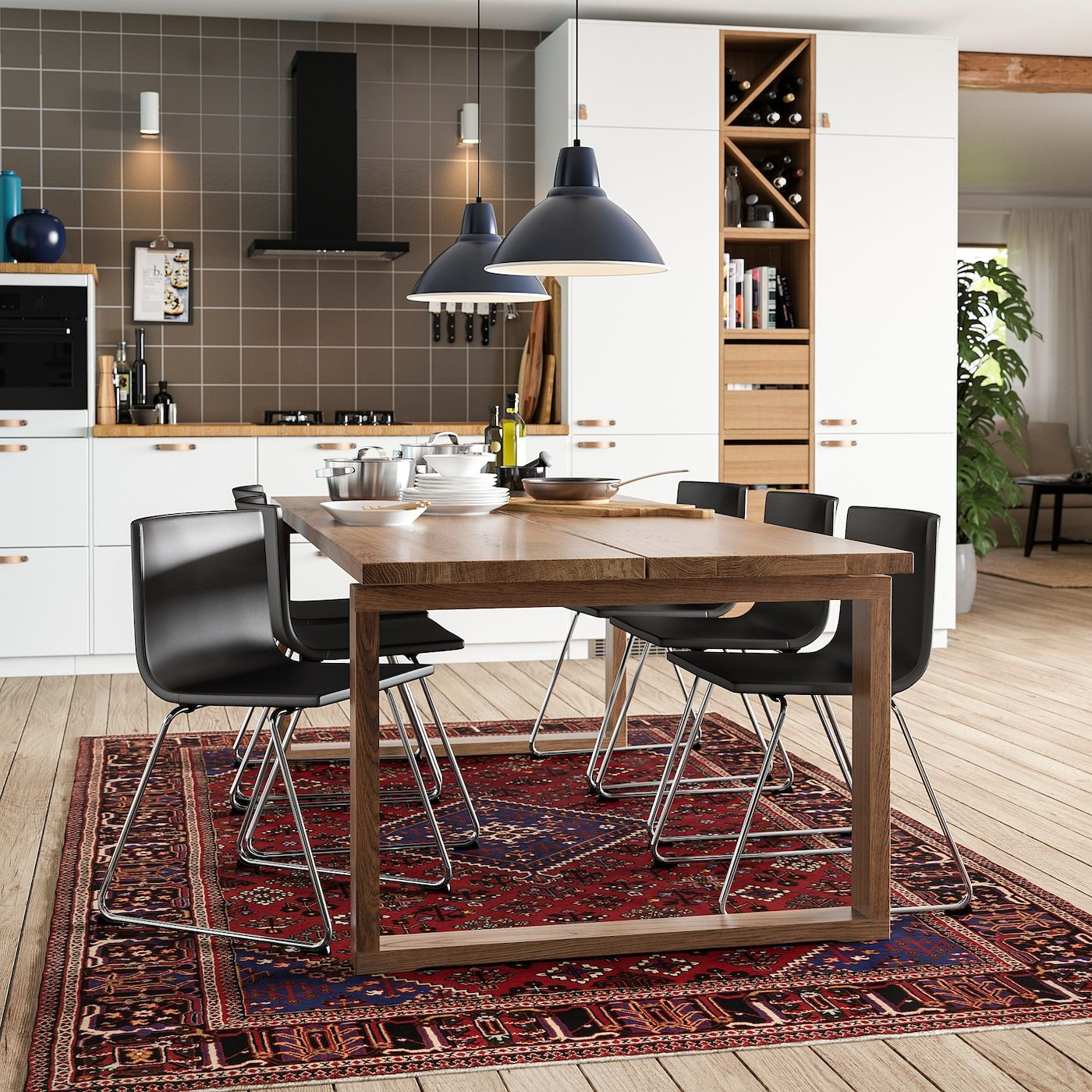 Morbylanga Tisch Eichenfurnier Braun Las Ikea Osterreich In 2020 Esszimmertisch Esstisch Und Tisch