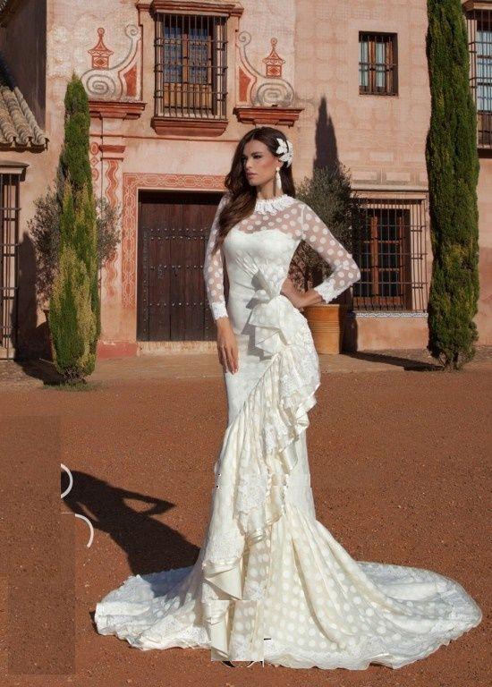 vestidos de novia flamencos primavera verano 2017 - tendenzias