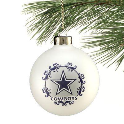 Dallas Cowboys Large Festive Glass Ornament - White - Fanatics.com