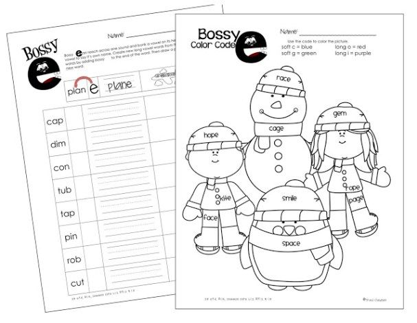 Bossy e and Silent e FREE Phonic Instruction Materials