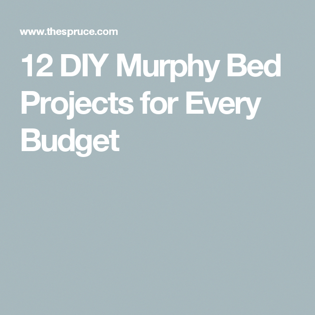 """12 DIY Murphy Bed Projects for Every Budget """"murphybeddiy"""