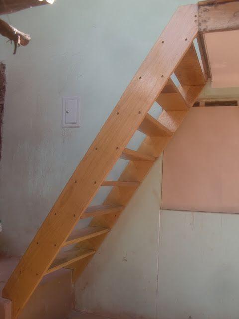 Como hacer una escalera de madera sencilla woodworking - Como hacer un altillo de madera ...
