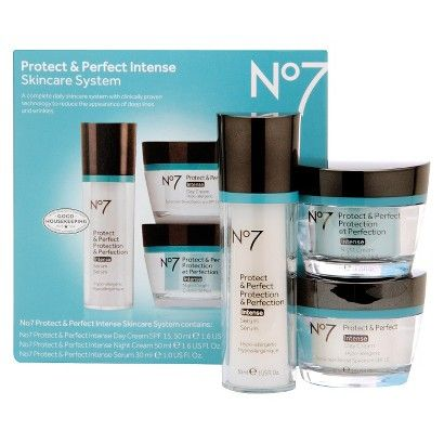 No7 Protect And Perfect Intense Skincare System 3 Piece Set Skin Care System No7 Skin Care