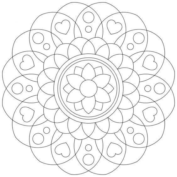 Mandala-Ausmalbild Nr. 46 | накш | Pinterest | Mandala, Dot painting ...
