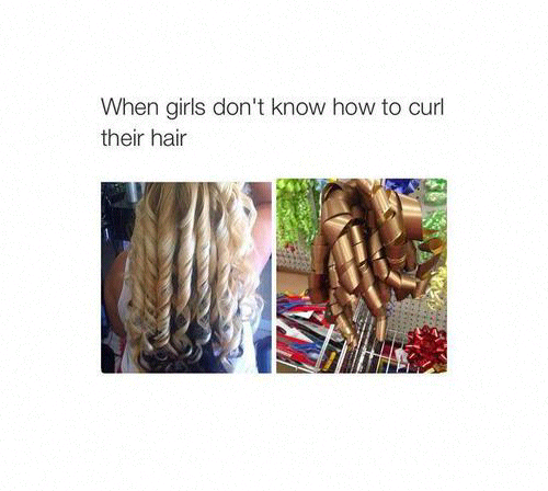 #funny #curly #hair #fails.  #girl #girlsproblems #hairstyle #blondehair