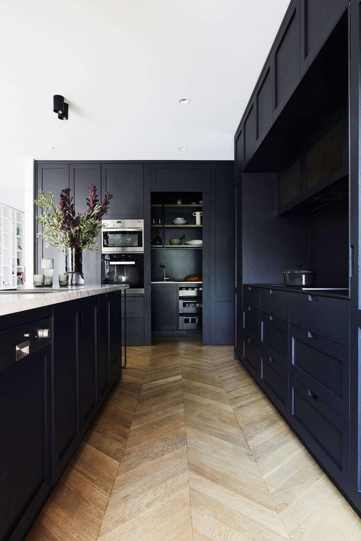 Malvern Project By Cranberry Design Homeadore Kitchen Cabinet Design Black Kitchens Upper Kitchen Cabinets
