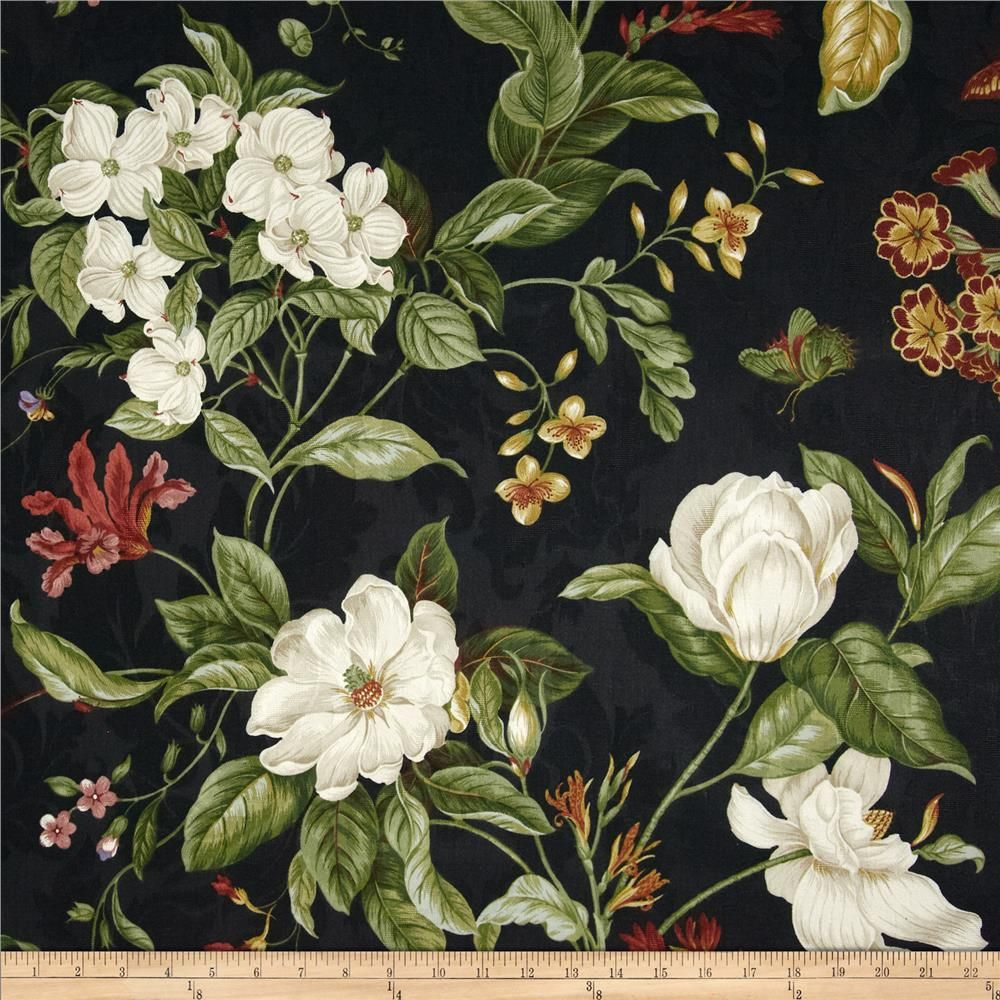 Waverly Garden Images Black Fabric Decor Waverly Bedding Floral Curtains