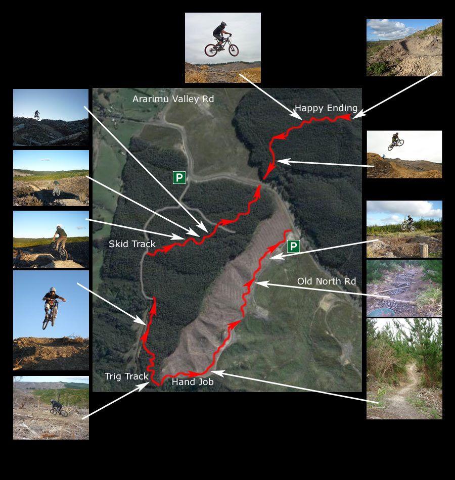 Riverhead bike trail map. June 2007. Nz history, Trail