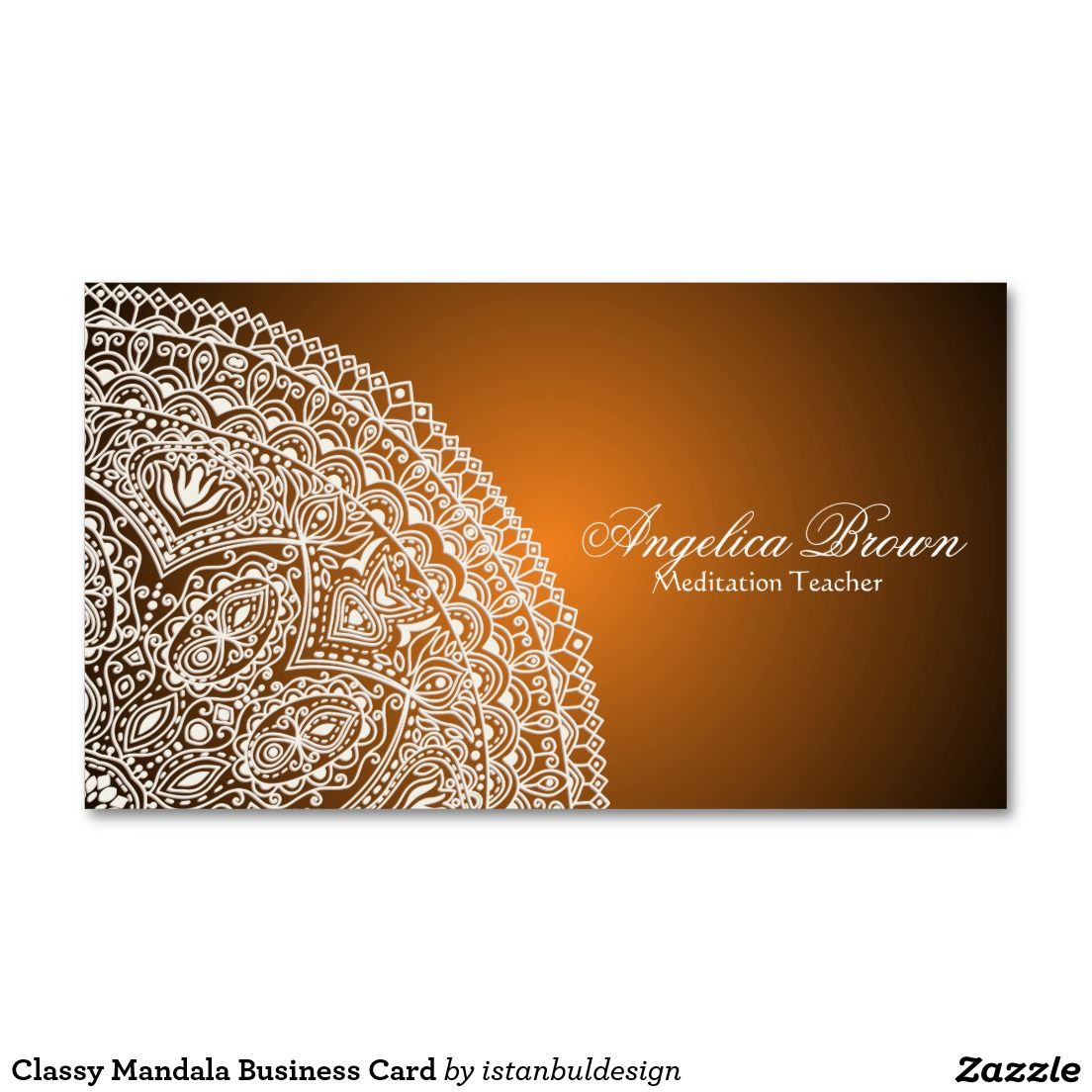 Classy mandala business card meditation business cards pinterest classy mandala business card reheart Image collections