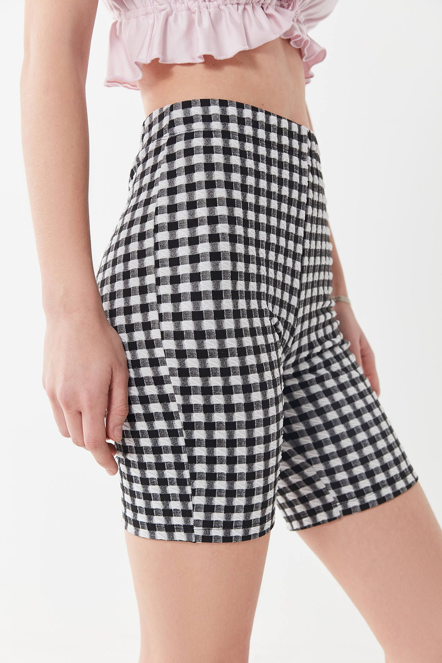 b3593afbff UO Kimmy Gingham High-Rise Bike Short | {wishlist} | Gingham, Short ...