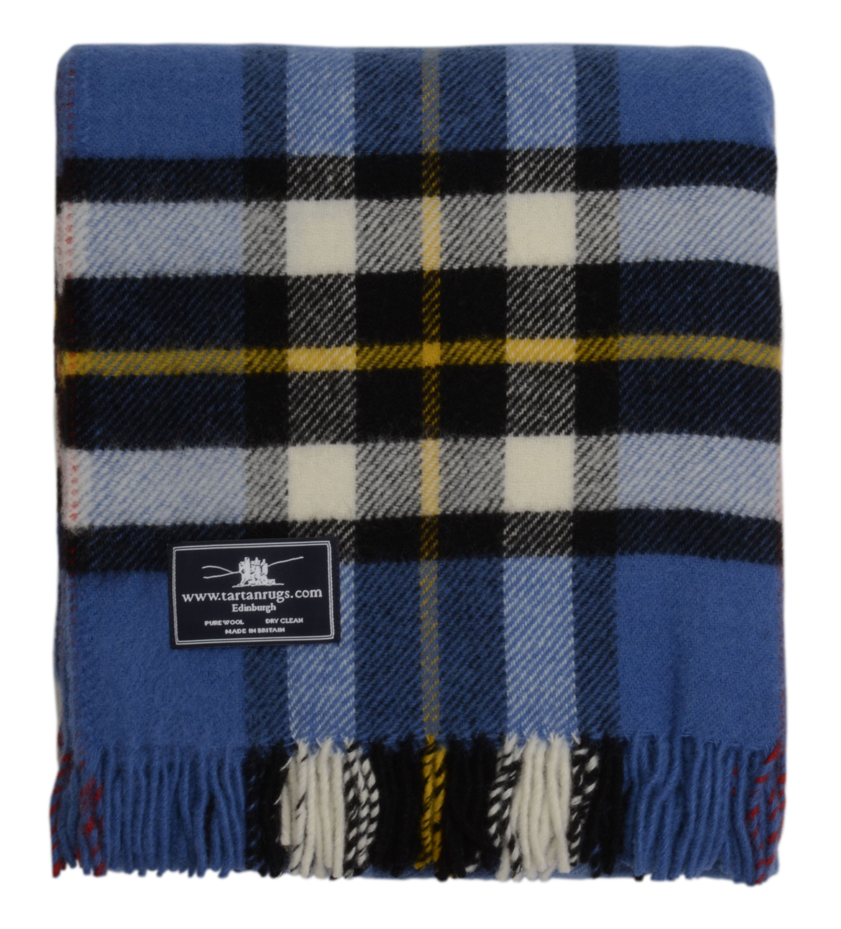 Tweedmill Blue Thompson Tartan Premium Wool Travel Rug