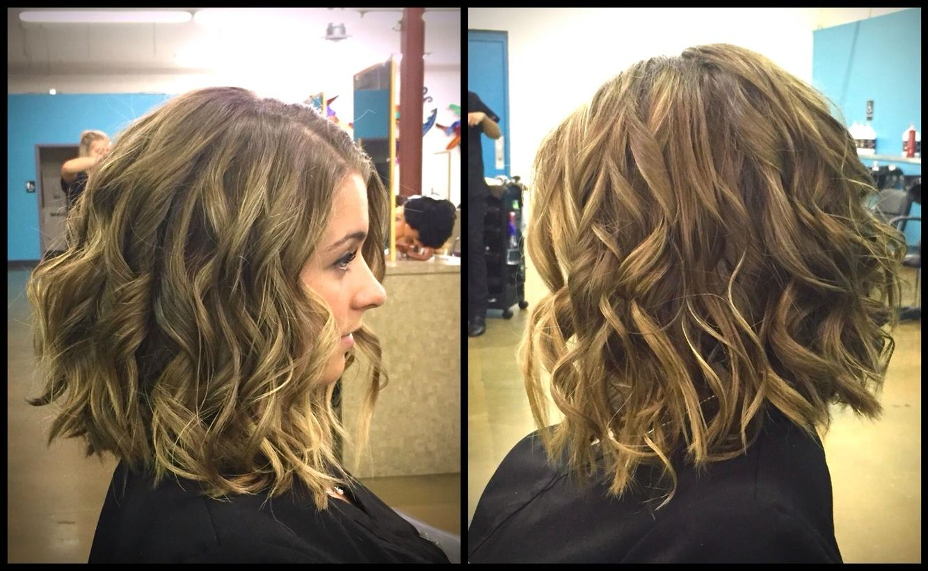 Beach Waves Created With Flat Iron On Medium Length Hair Beach Wave Hair Hair Waves Medium Length Hair Styles