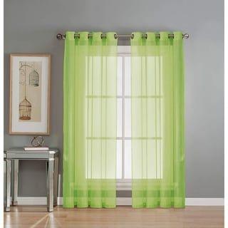 Window Elements Sheer Elegance Grommet 84 Inch Curtain Panel Pair