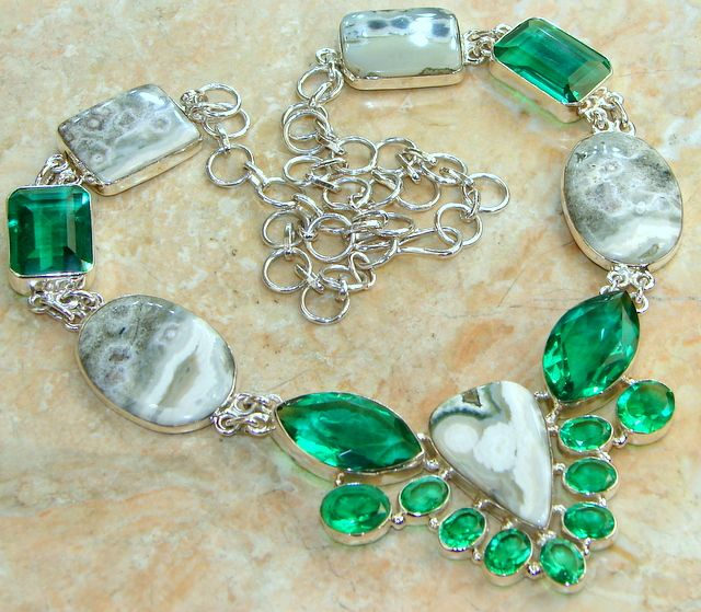 Magnificent Ocean Jasper Sterling Silver necklace  price: $125.24  #Popular  #Jewelry  #Fashion