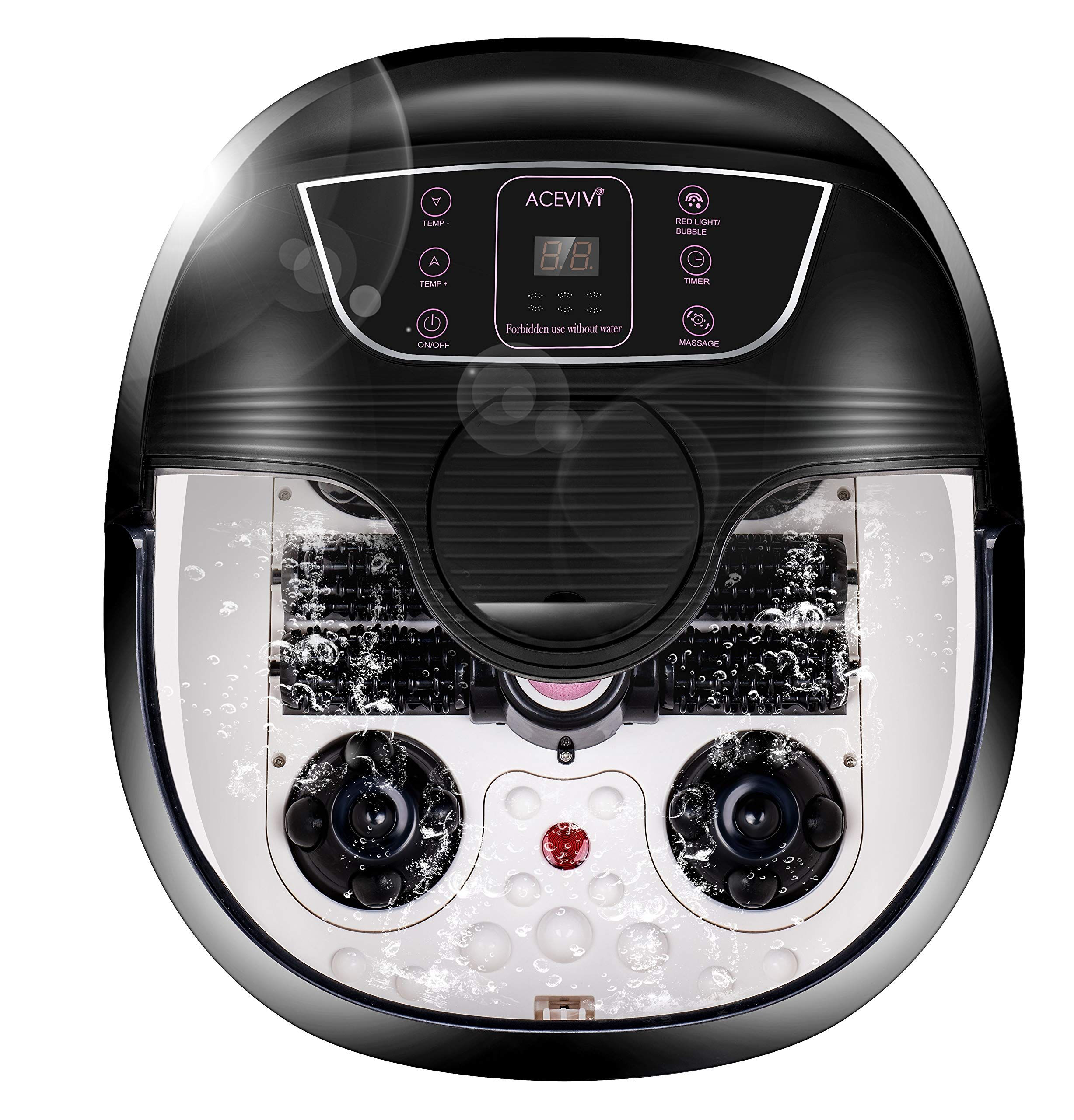 ACEVIVI Foot Spa Bath Massager with Heat and Massage and
