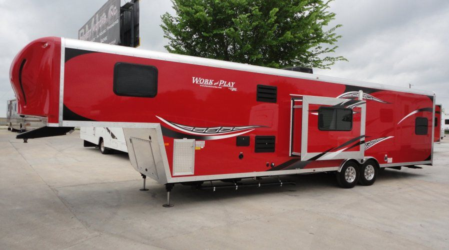 Work And Play Toy Hauler >> 38ft 5th Wheel 2014 Work Play 36 995 00 If You Have