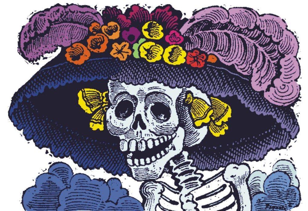 La Catrina Mexicana, grabado de Jose Guadalupe Posada, Mexico