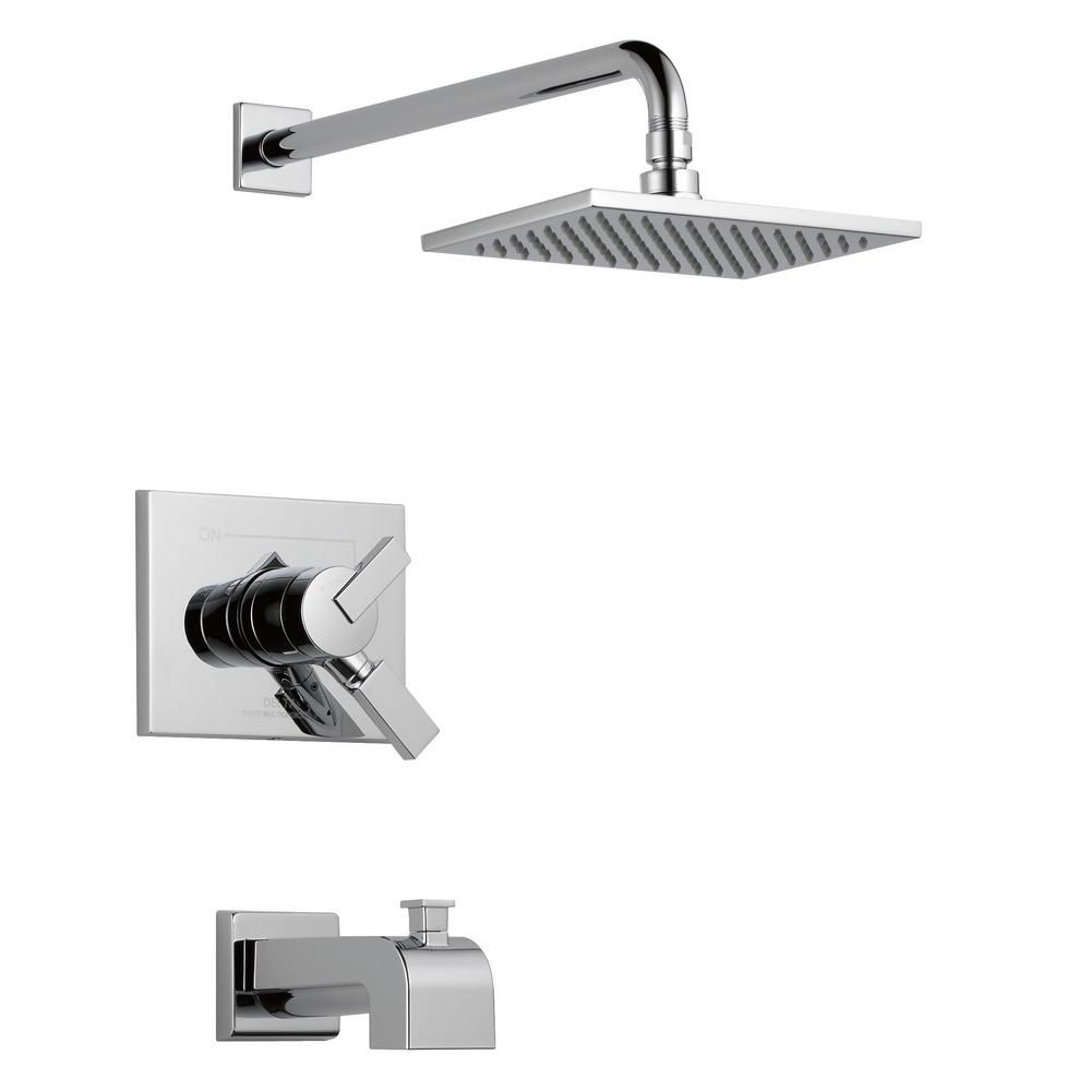 Delta Vero 1 Handle Tub And Shower Faucet Trim Kit In Champagne Bronze Valve Not Included T17453 Cz We The Home Depot In 2021 Shower Tub Tub And Shower Faucets Shower Faucet Delta tub and shower trim kit