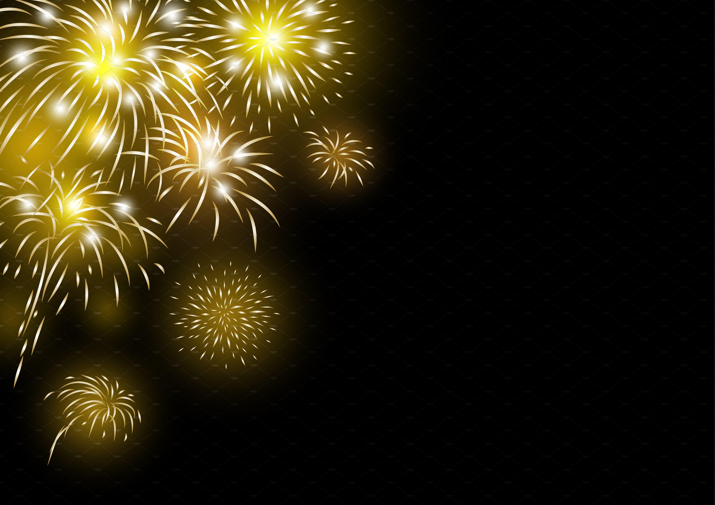 Gold fireworks background Fireworks background