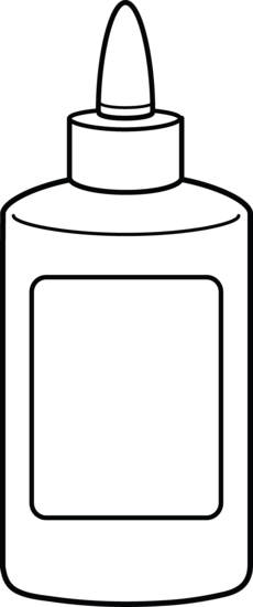 Glue Bottle Coloring Page Bottle Drawing Halloween