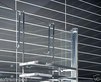 Details Zu Glaskabinen Hangeregal Duschablage Badregal Duschregal Duschkorb Mit 3 Boden Duschablage Duschregal Dusche