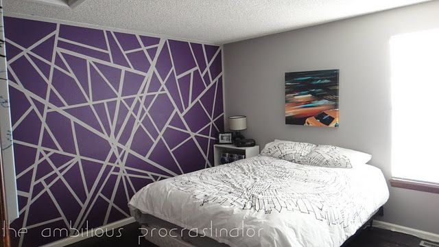 Simple Graphic Paint Technique Bedroom Wall Designs Bedroom