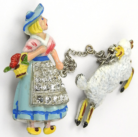 Coro Pave and Enamel Mary Had a Little Lamb Nursery Rhyme ...