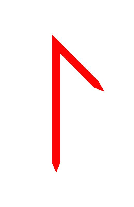 Blumenel Knüpfen elder germanic rune laguz laguz