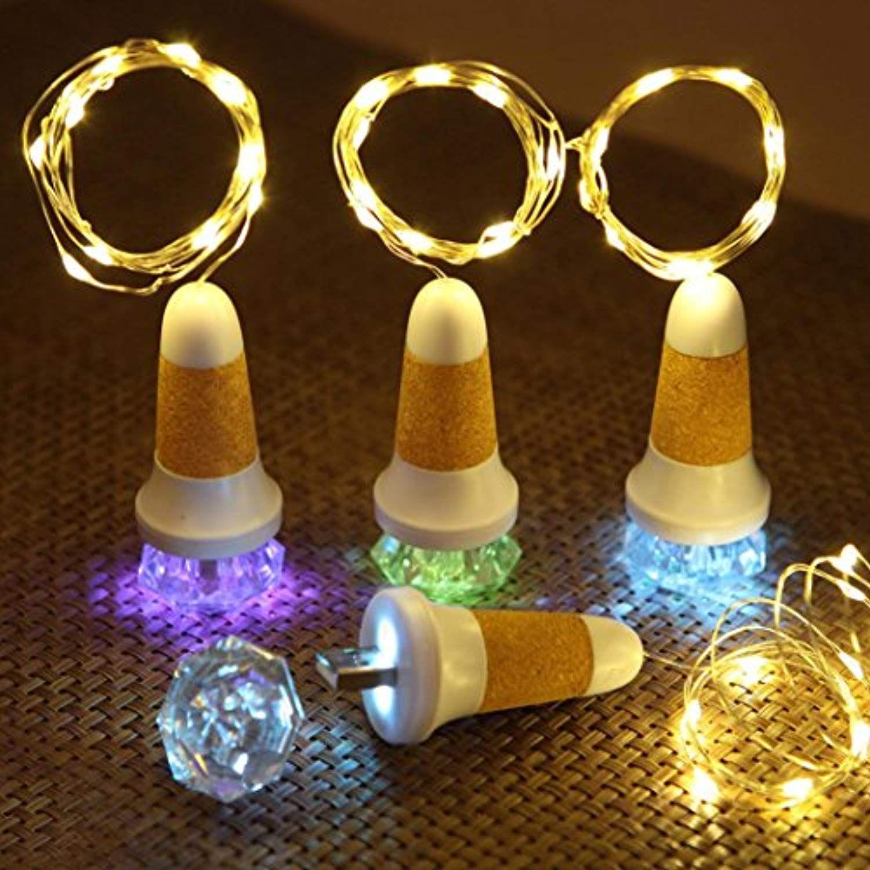 3x Cork Shaped Rechargeable USB LED Bottle Light Night Wine Lamp Wedding Party
