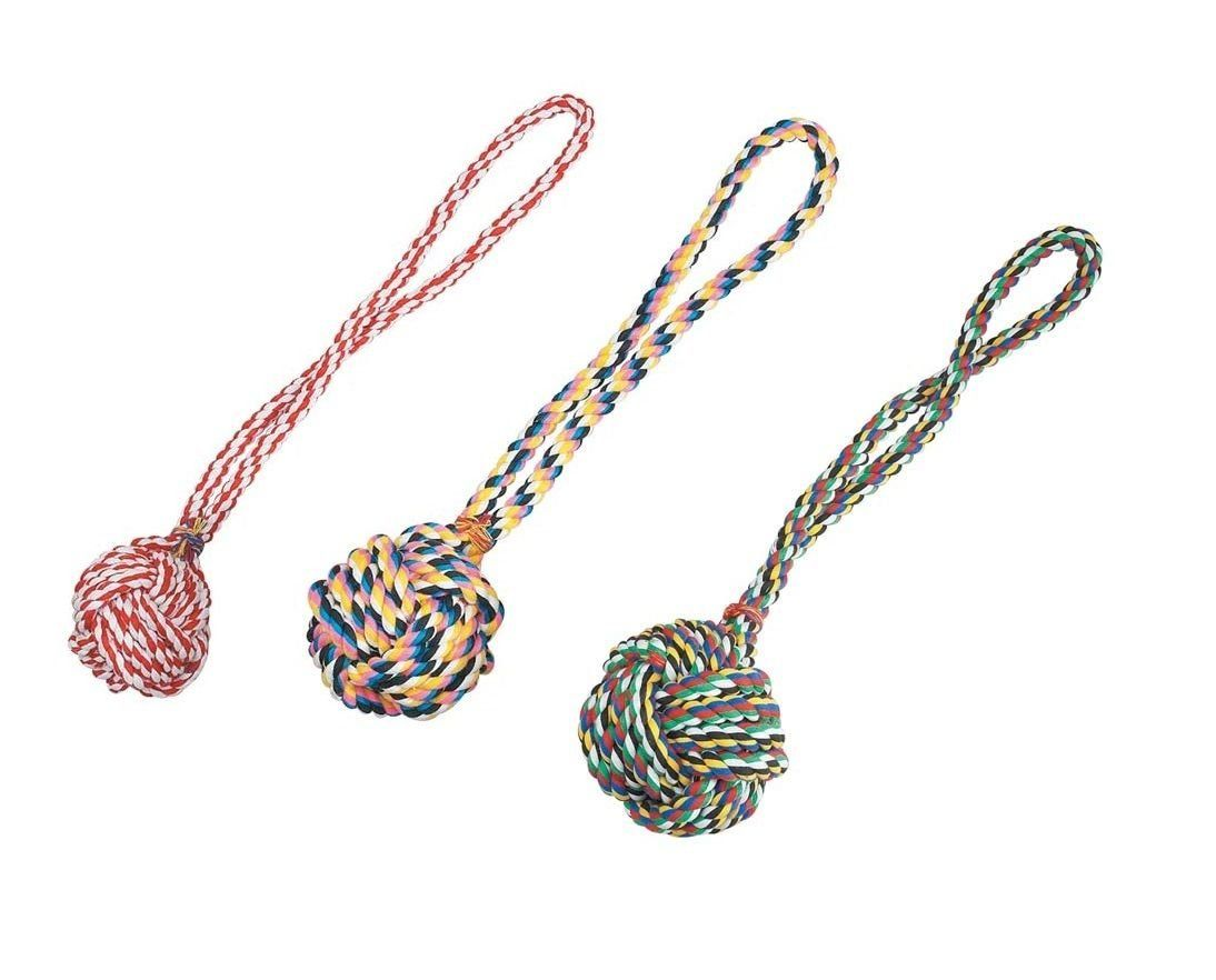 Monkey Fist Knot Rope Dog Toy Ball Handle Fetching Tugging Choose