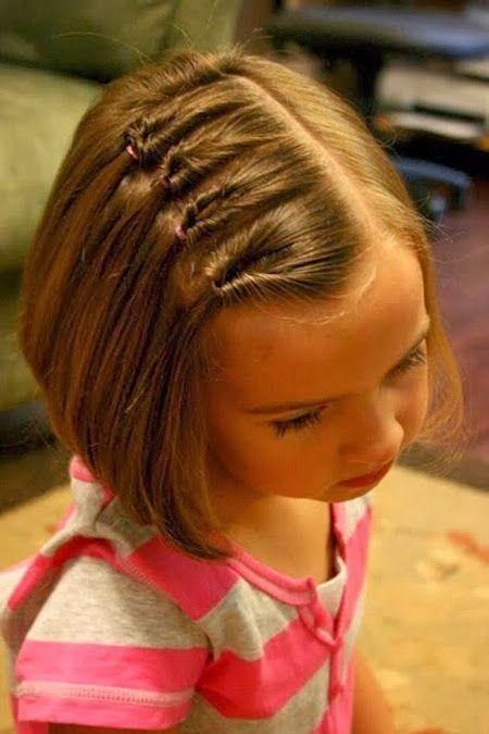 #Neueste Frisuren 2018 Süße Kinderfrisuren für kurzes Haar #Nied #Kind #Haarfrisuren #… - Flechten Modelb
