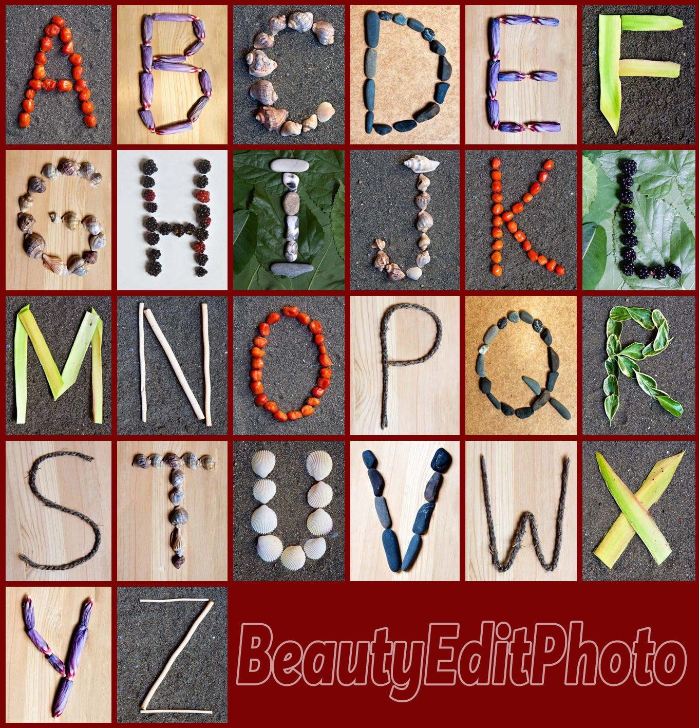 Letters In Nature Classroom Alphabet Nature Alphabet Letter Pictures Alphabet Photography Nature Theme Nursery Library Decor Abc Poster Alphabet Nursery Alphabet Nursery Art Nature Letters