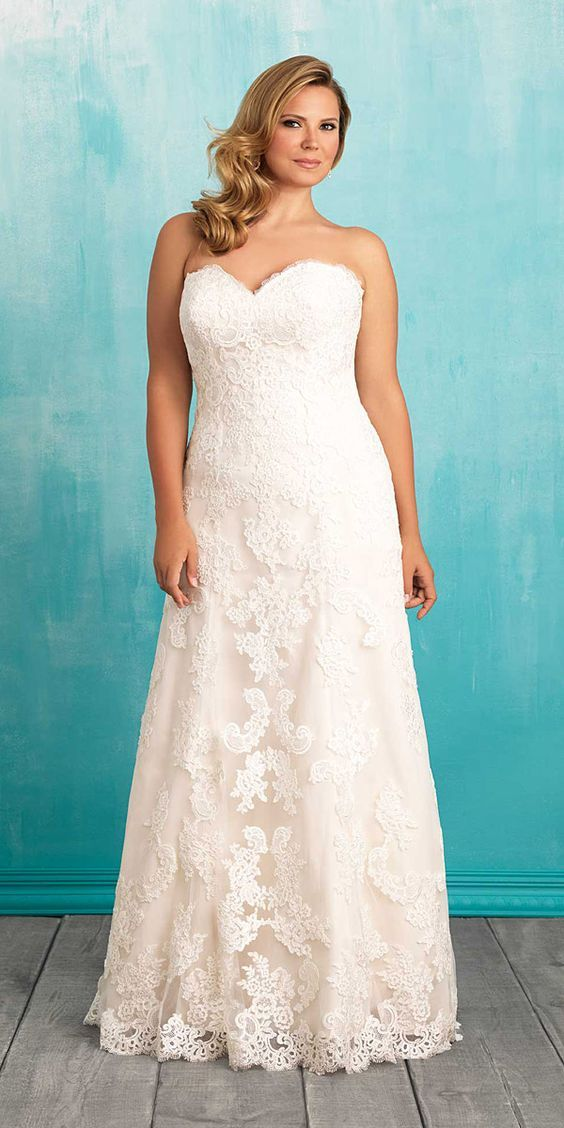 A Jaw-Dropping Guide â ¤ Plus-size wedding dresses have approving ...