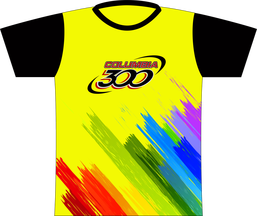 Columbia 300 Paint Brush Palette Dye Sublimated Jersey. Going with the Columbia 300 paint splatter theme, here's a few brush strokes!  Columbia 300 logo full front and full back.