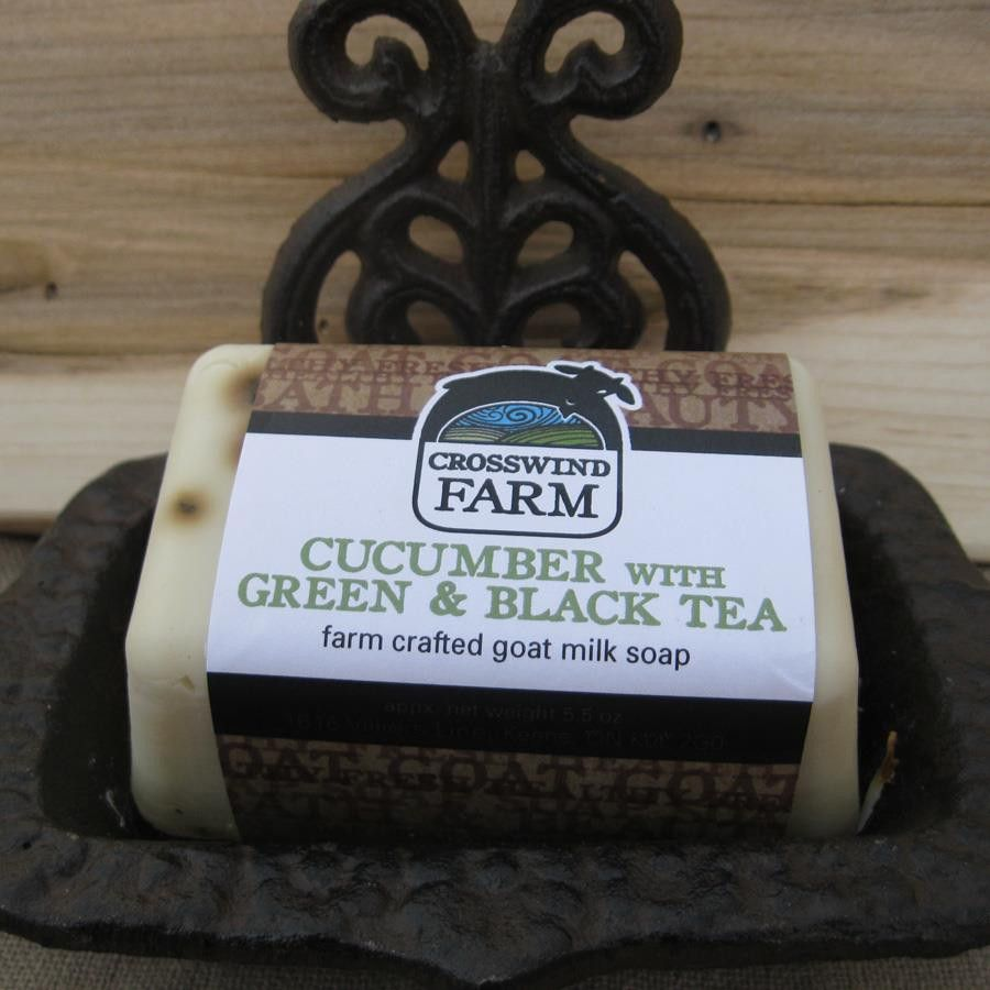 Check out Cross Wind Farm -... now available on our website! http://www.peterboroughcraftworks.ca/products/cross-wind-farm-goats-milk-soap-cucumber-tea?utm_campaign=social_autopilot&utm_source=pin&utm_medium=pin