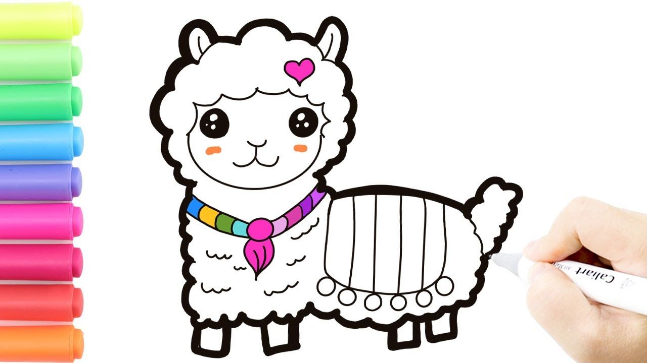 How to Draw a Llama Easy and CuteLearn Color with Drawing