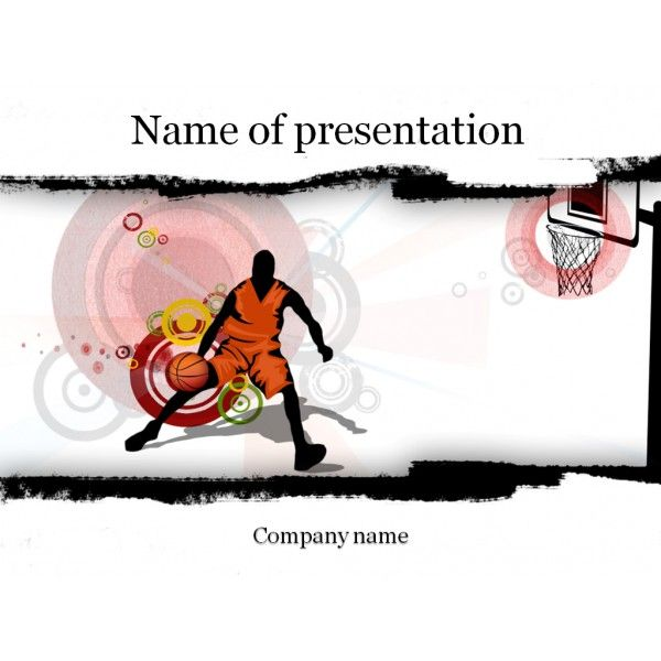 Basketball Players PowerPoint Template For Your Presentation - basketball powerpoint template