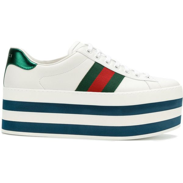 8e39539eb262 Gucci platform sneakers ( 785) ❤ liked on Polyvore featuring men s fashion