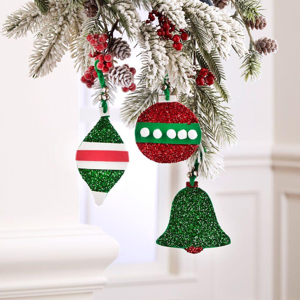 Kids' Glittered Foam Ornaments
