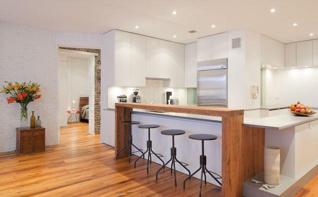 Twolevel Kitchen Island Multi Level Isalnd With Two Different Surfaces Modern Kitchen Bar Contemporary Kitchen