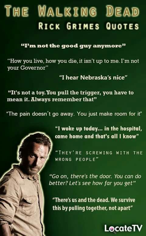 "Rick quotes. Forgotten quote, ""This isn't a democracy anymore"""