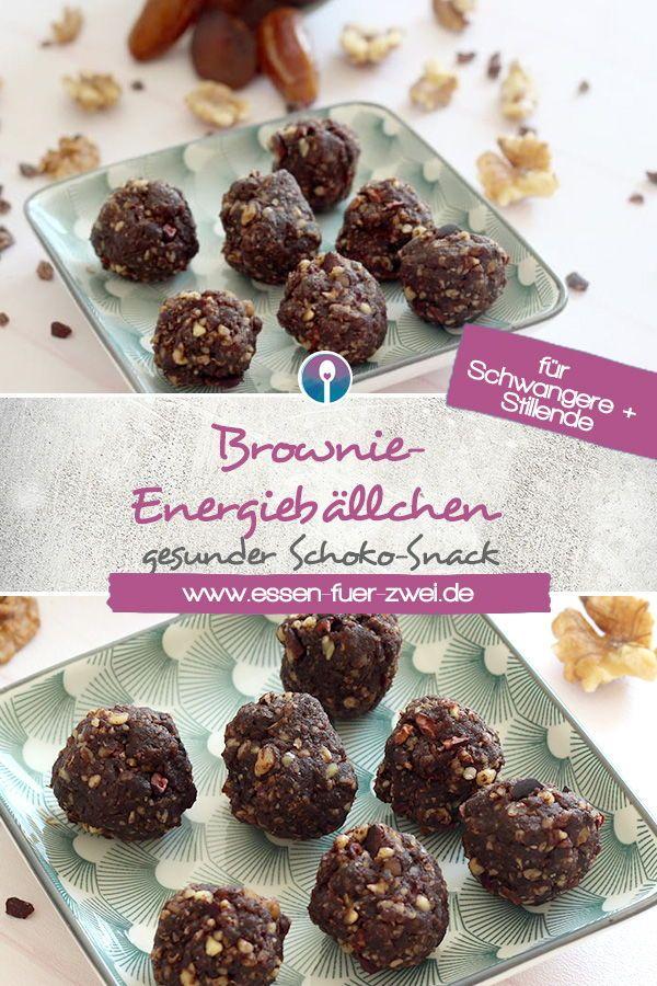Brownie-Energiebällchen – gesunder Schokosnack für Schwangere und Stillende