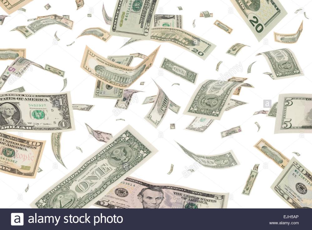 Dollar Banknotes Windfall Money Rain Dollar Banknote Money Poster Bank Notes