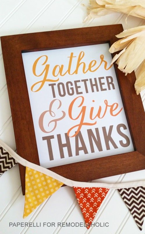 Cute And Easy Freebie To Print For Thanksgiving Fall Decor