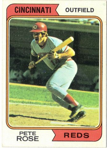 1974 Topps 300 Pete Rose Baseball Cards Baseball Card Values Cincinnati Reds Baseball
