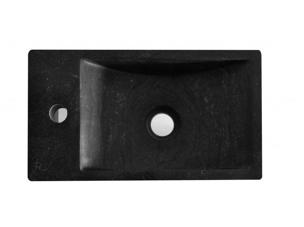 Fontein Natuursteen Toilet : Sanimoodz hardsteen fontein links 40x22x10 cm natuursteen zwart in