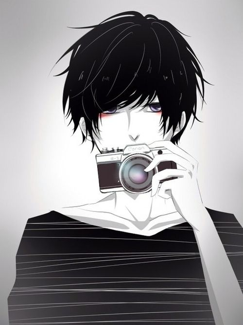 Adopted Kyle Loves Photography He S Very Quiet Because He S Usually Wrapped Up In His Own Little World He S Not Shy It S Just H Anime Anime Boy Manga Anime
