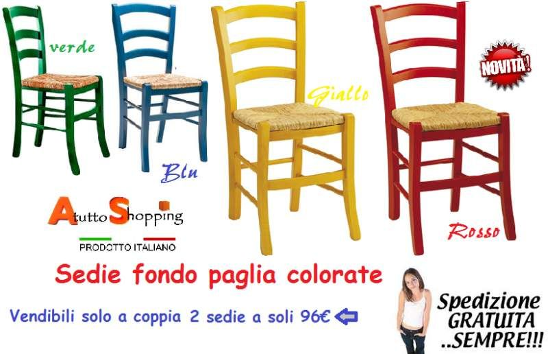 Sedie colorate in legno | AtuttoShopping Arredamenti&Complementi ...